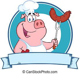 豚, 保有物, シェフ, ソーセージ