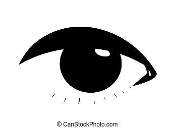 象徴的, 目, 女性