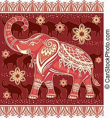 象, 定型, 飾られる