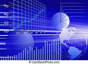 財政, ビジネス, 抽象的, 背景, 世界, データ