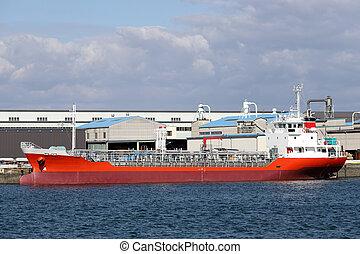 貨物船, 港, 荷を積まれる