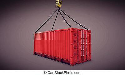 貨物 容器, 赤, ホック