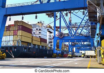 貨物, -, 貨物, 出荷, 海港