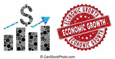 販売チャート, 切手, 経済, モザイク, バー, 苦脳, 成長