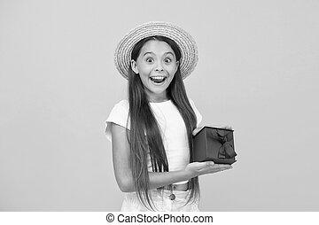 買い物, childhood., bonus., プレゼント, boxes., 十代, celebration., 黒, girl., 割引, 幸せ, 休日, 出産, プレゼント, 金曜日, concept., 余分, 贈り物, birthday, 夏, sales.