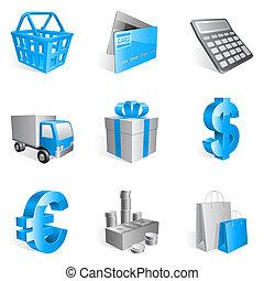 買い物, icons.