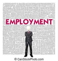 資源, ビジネス 概念, 人間, 単語, 雇用, 雲