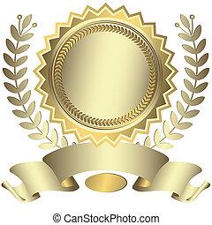 賞, リボン, (vector), 銀のようである