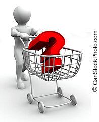 質問, consumer's, バスケット