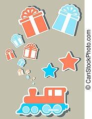 贈り物, 休日, 箱, 列車, 隔離された