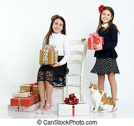 贈り物, 女の子, 幸せ
