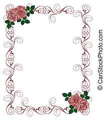 赤いバラ, 招待, 結婚式