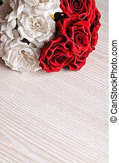 赤いバラ, 白