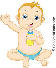 赤ん坊, かわいい, 振ること, 男の子