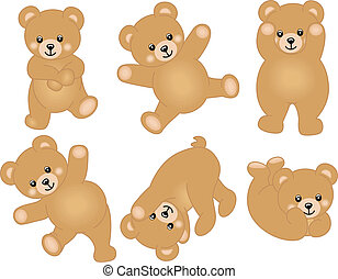 赤ん坊, かわいい, 熊, テディ