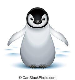 赤ん坊, わずかしか, 皇帝の ペンギン