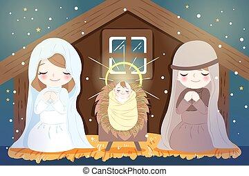 赤ん坊, クリスマス, イエス・キリスト