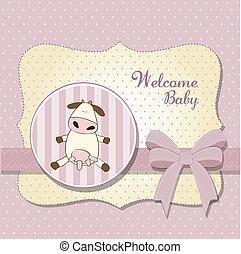 赤ん坊 シャワー, 女の子, デリケートである, カード