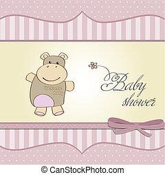 赤ん坊 シャワー, 幼稚, カード