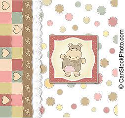 赤ん坊 シャワー, 幼稚, 女の子, カード