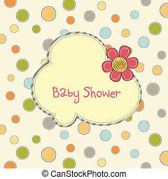 赤ん坊 シャワー, 花, カード