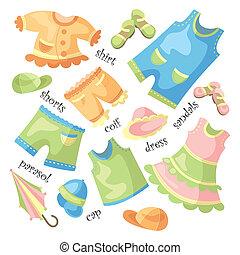 赤ん坊, セット, 衣類