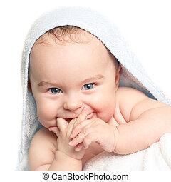 赤ん坊, 微笑, かわいい