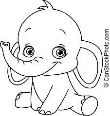 赤ん坊, 概説された, 象