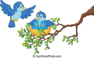 赤ん坊, 鳥, 2, 彼女, ne
