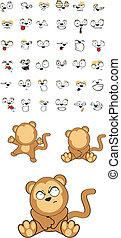 赤ん坊, set5, サル, 漫画