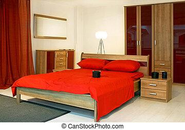 赤, 寝室