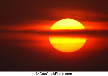 赤, 日の出