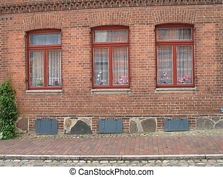 赤, 窓, 3