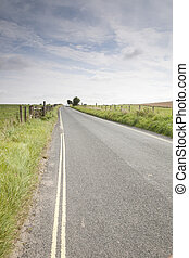 距離, 開いている道路, 自動車
