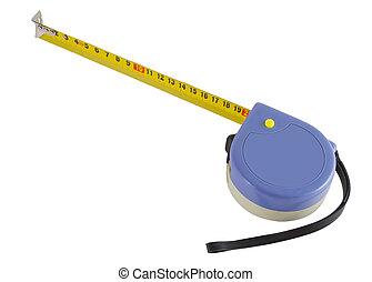 距離, measurer, 白い背景