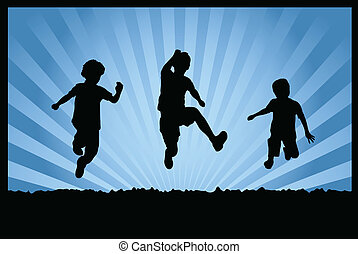 跳躍, 子供