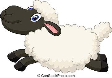 跳躍, 漫画, sheep