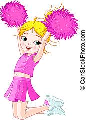 跳躍, cheerleading, 女の子, かわいい
