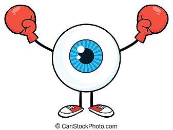 身に着けていること, 人, 眼球, 手袋, ボクシング