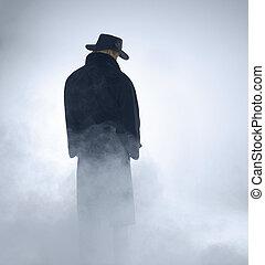 身に着けていること, 地位, 女, コート, 堀, 霧