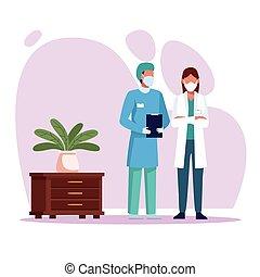 身に着けていること, 恋人, 医者, 医学, 特徴, マスク