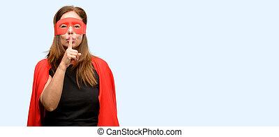 身に着けていること, 索引, 概念, 英雄, ありなさい, 年齢, 唇, マスク, quiet., 中央, 秘密, 女, 指, 沈黙, 尋ねなさい, 岬, 極度, 赤