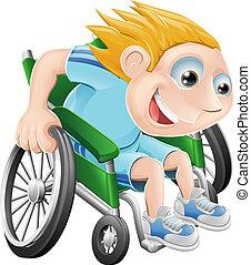 車椅子の 競争, 漫画, 人