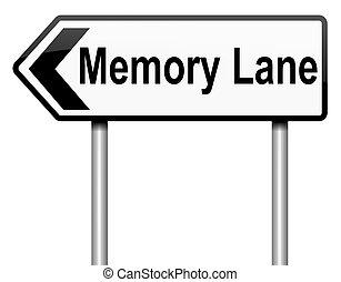 車線, concept., 記憶