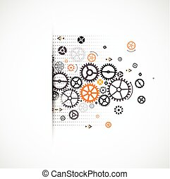 車輪, 抽象的, バックグラウンド。, 主題, コグ, 技術