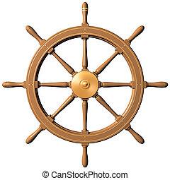 車輪, 船