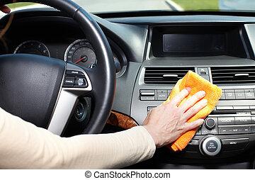 車。, 清掃, 手