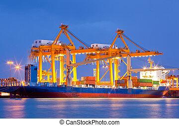 輸入, 造船所, エクスポート, ロジスティックである