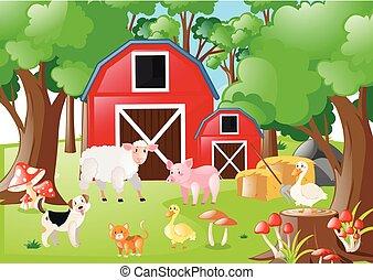 農場のフィールド, 動物