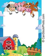 農場, 主題, フレーム, 4